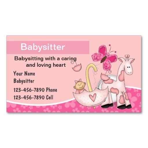 156 best babysitting business cards images on pinterest business babysitting business cards fbccfo Image collections