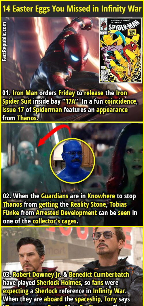 infinity war is full of easter eggs and small details that most of