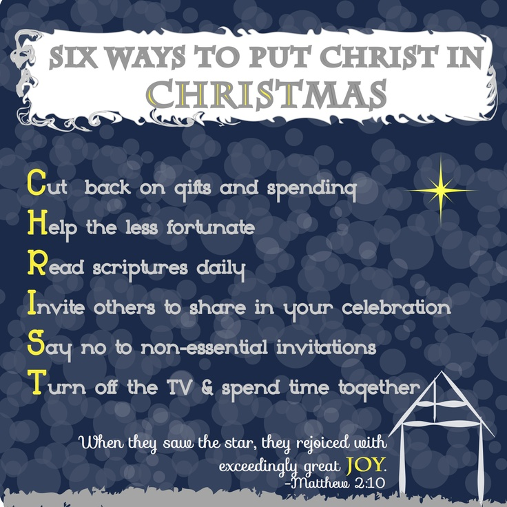 keep christ in christmas Our world makes it challenging to keep christ in christmas anyone else notice that don't get me wrong: i love this season the lights and festivities.
