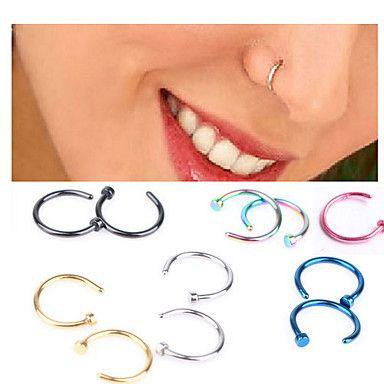 τρύπημα του σώματος piercing κοσμημάτων μόδας από ανοξείδωτο χάλυβα δαχτυλίδι μύτη κοσμήματα σώματος (τυχαία χρώμα 3142122 2016 – €1.95