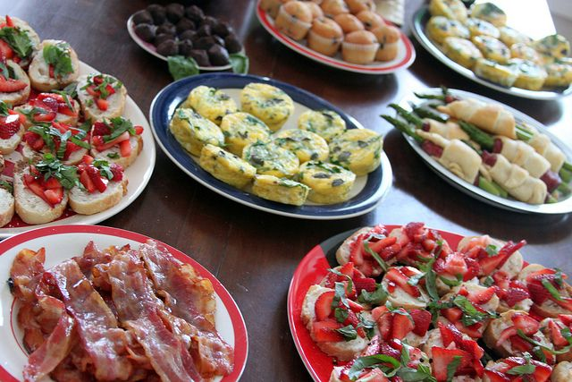 596 best breakfast buffet ideas images on pinterest for Housewarming party food menu