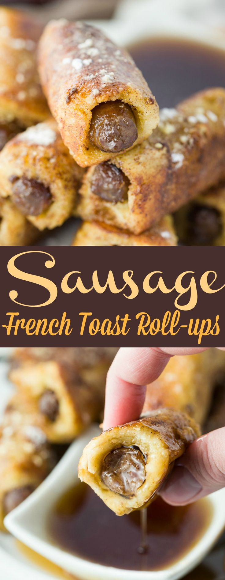 Warm, savory sausage wrapped in fresh bread that's dipped in a classic french toast mixture and cooked to golden-brown perfection. Served with syrup for dunking, this breakfast is perfect for both kids and adults!