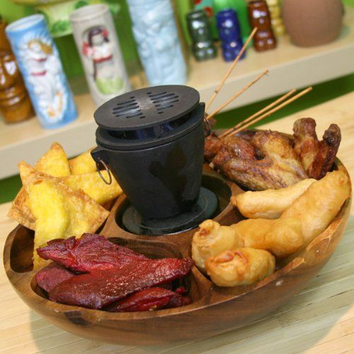 Pu Pu Platter and Hibachi Set: Pupu Platter And Hibachi: Platters