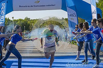 Download this Editorial Image of Runner Sprayed With Blue Powder for as low as 0.68 lei. New users enjoy 60% OFF. 23,006,035 high-resolution stock photos and vector illustrations. Image: 40157130