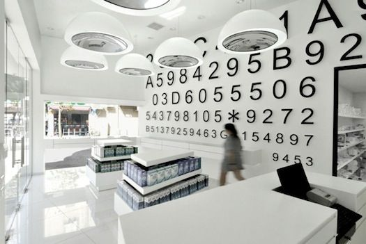 Contact lens boutique in Tel Aviv by Miss Lee Design