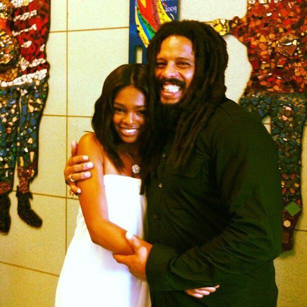 Rohan Marley and daughter Selah