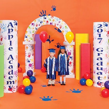 27 best handprint graduation images on pinterest kindergarten graduation cap and gown and kid - Kindergarten graduation decorations ...