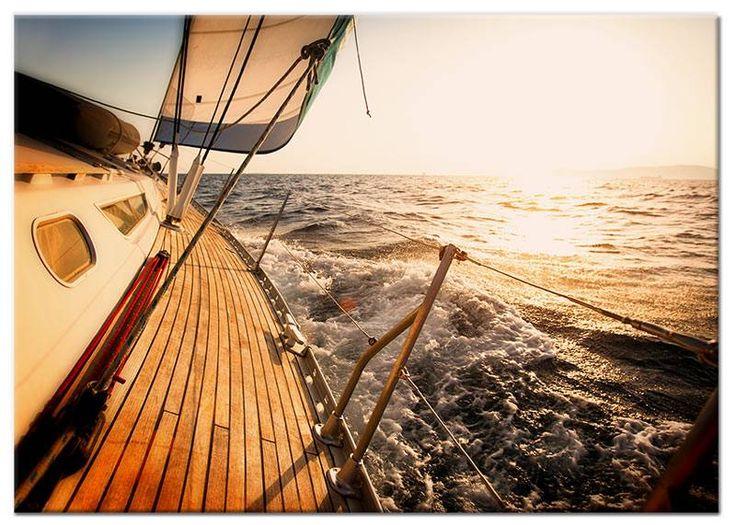 Foto schilderij Zeilboot op Canvas