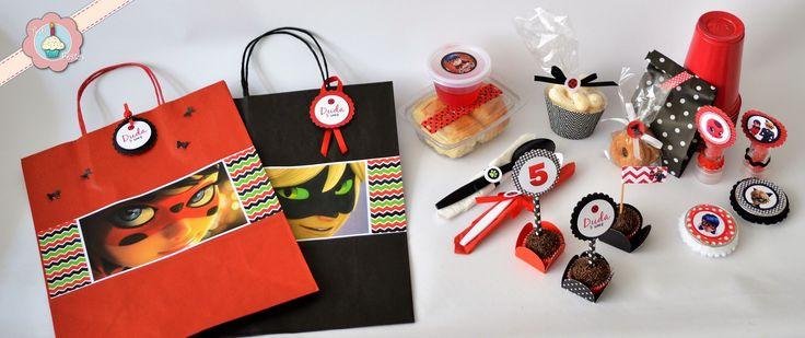 Kit de festa escolar Ladybug e Cat noir- Miraculous!