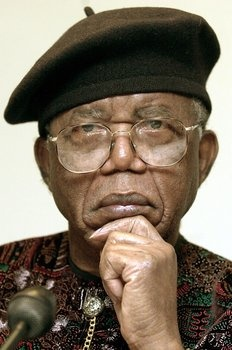 Chinụalụmọgụ Achebe (1930 - 2013)  was a Nigerian novelist, poet, professor, and critic. He was best known for his first novel and magnum opus, Things Fall Apart (1958), which is the most widely read book in modern African literature. Achebe's novels focus on the traditions of Igbo society, the effect of Christian influences, and the clash of Western and traditional African values during and after the colonial era.