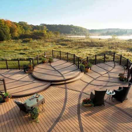 Деревянные настилы и деревянные площадки на даче