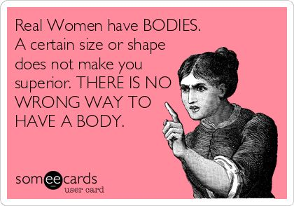 "Health and fitness can be frustrating, so it's time to define what it means to be a ""real"" woman and why there's no wrong way to have a body."
