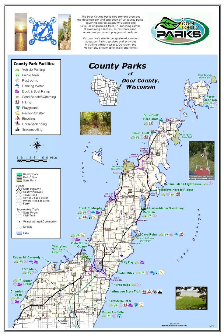 County parks of Door County, Wisconsin
