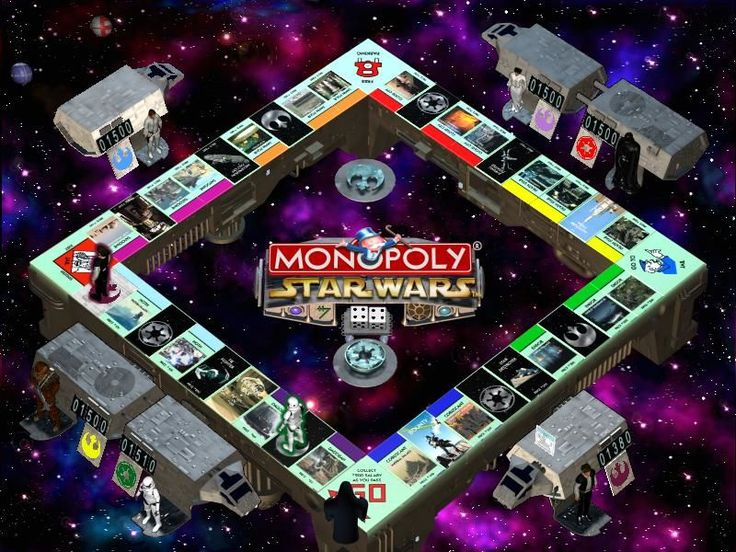 star wars monopoly board #futurism
