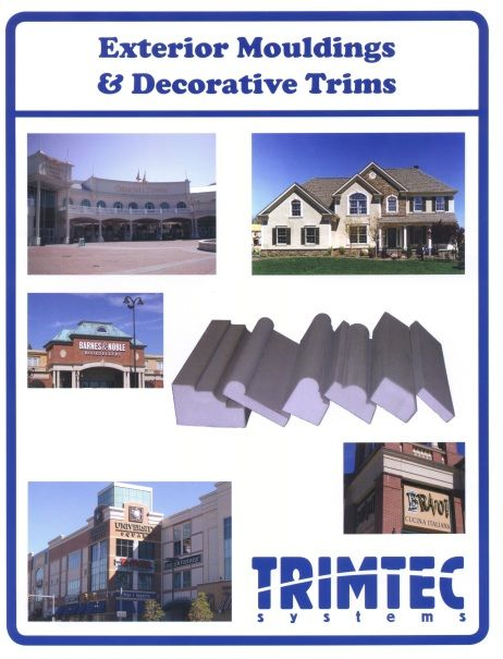 Exterior mouldings decorative trims brochure walls for Sip panel manufacturers california