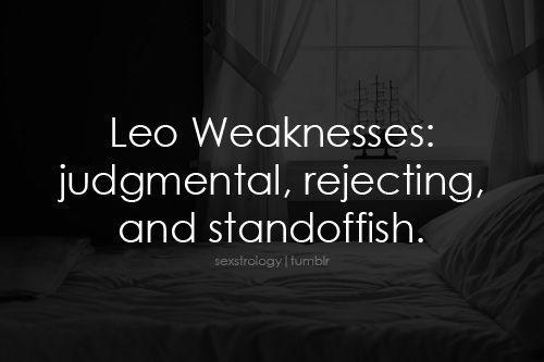 Leo Weaknesses