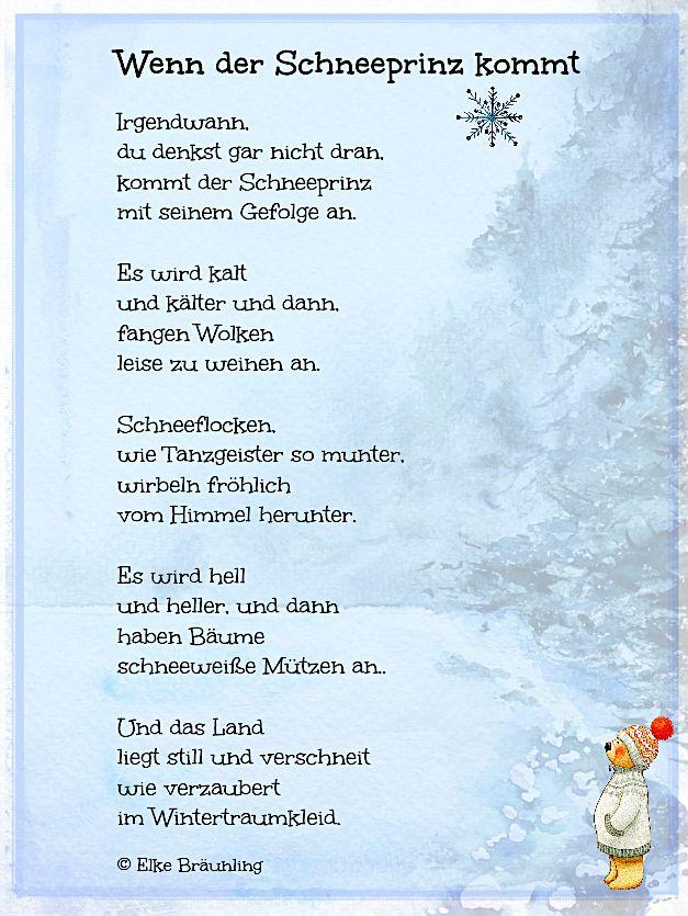 Gedicht Winter Kinder