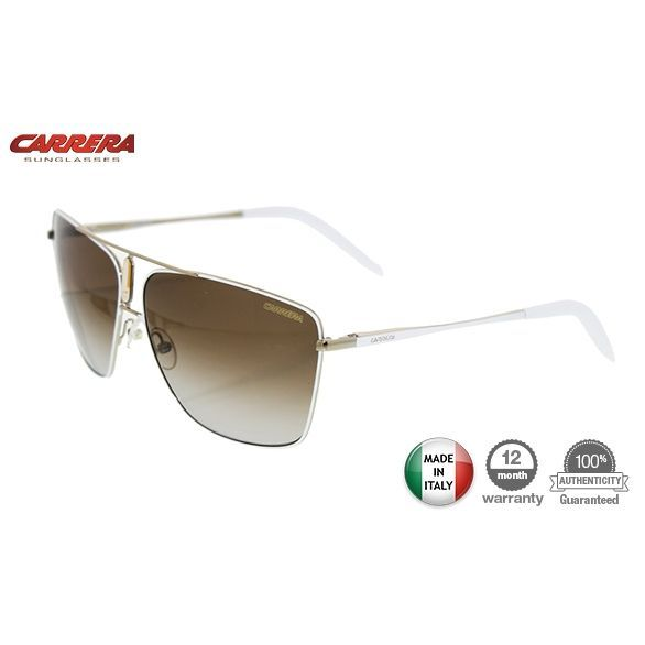 Carrera 43 Unisex Shiny Gold/White Sunglasses 8Q581 | Buy Sunglasses