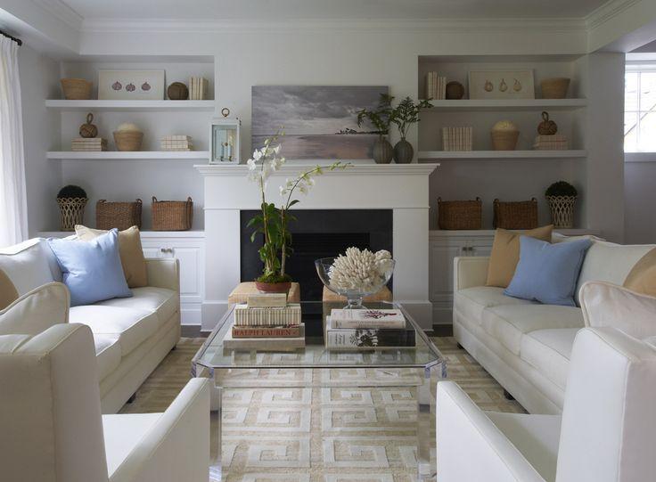 Bookshelves look bumped-in: love the simplicity - KENSETT NORWOOD - Lynn Morgan Design