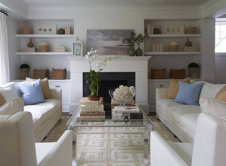 Bookshelves look bumped-in: love the simplicity - KENSETT NORWOOD - Lynn Morgan Design
