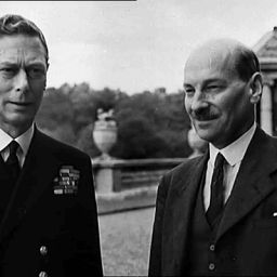King George VI receiving the newly elected Prime Minister, Clement Attlee in 1945.