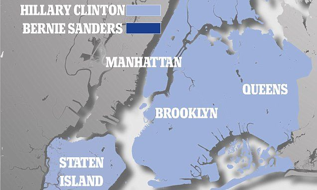 Bernie won most of NY's counties but lost to Hillary in big cities
