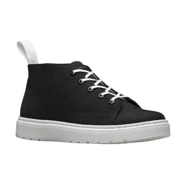 Dr. Martens Baynes Chukka Boot ($110) ❤ liked on Polyvore featuring shoes, boots, chukka style boots, black boots, dr martens boots, welted shoes and black evening shoes