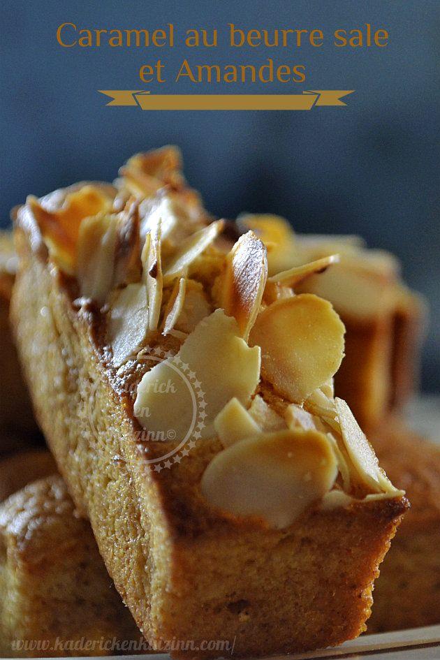 Financiers au caramel beurre salé et amandes - Kaderick en Kuizinn #financier #caramel #amande #recette