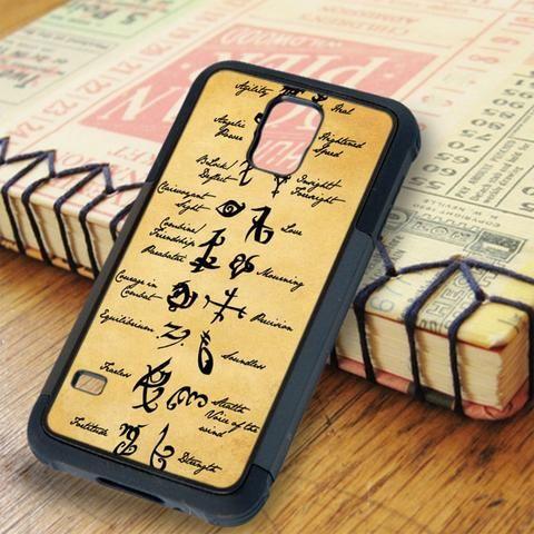 Mortal Instruments Runes Samsung Galaxy S5 Case
