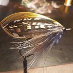 A own creation Autumtide tied on a 5/0 hook #flugbindning #laxflugor #salmonflies #laxfiske #classicsalmonflies #semperfliflytying #flyjunkie