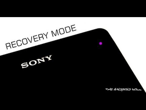 Recovery mode Sony's Android™ Concept ROM