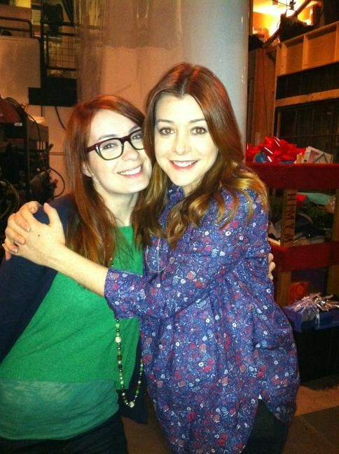 Felicia Day and Alyson Hannigan. I love these women. Alyson is super preggers in this!