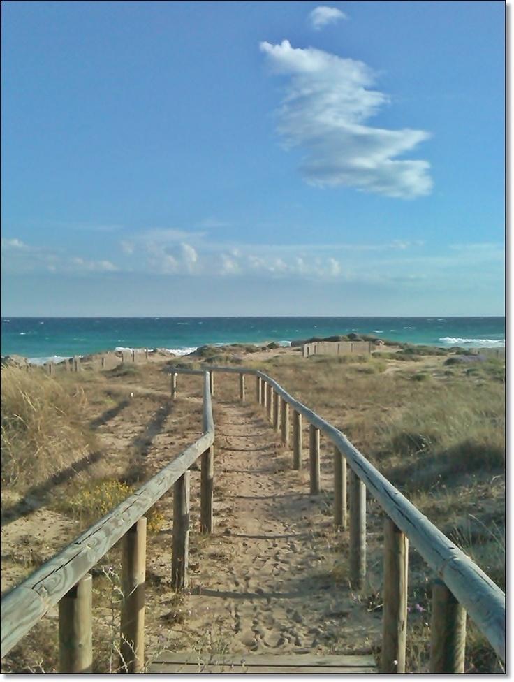 beach in Taranto, Italy
