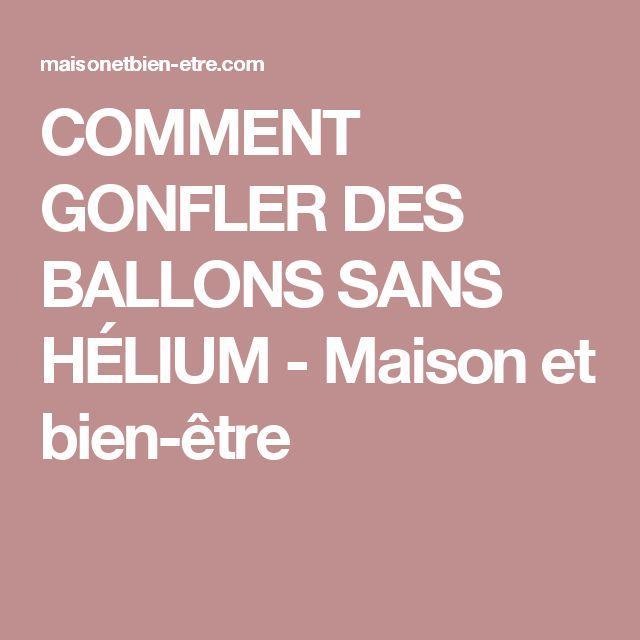 Les 25 meilleures id es de la cat gorie gonfler ballon helium sur pinterest ballons sans - Faire tenir des ballons en l air sans helium ...