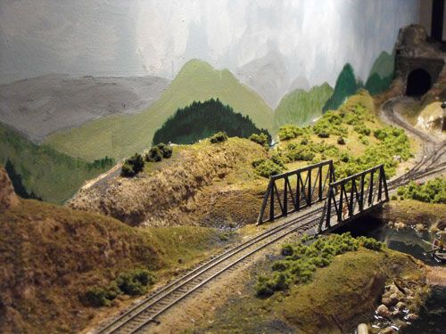 Model Train Mountain Scenery Model railroad scenery