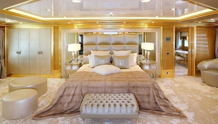 Luxury Master Bedroom With Gold Accent Bedrooms Celebrity Pictures