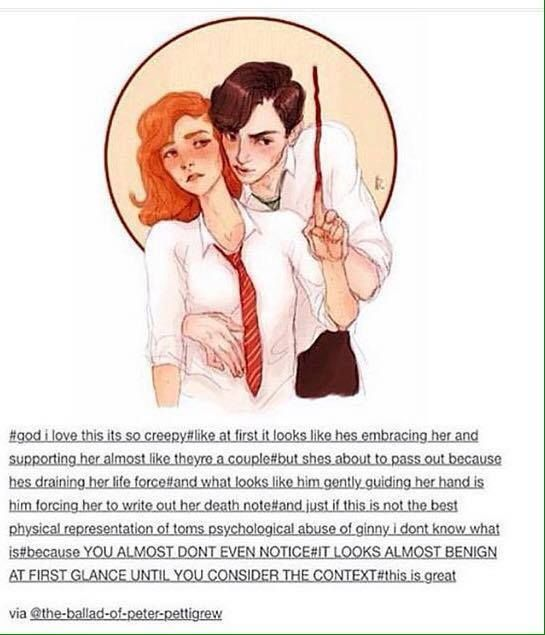 Tom Riddle with Ginny Weasley