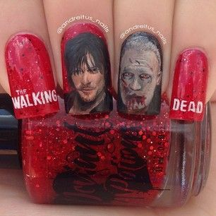 The Walking Dead: | 26 Incredibly Detailed Nail Art Designs