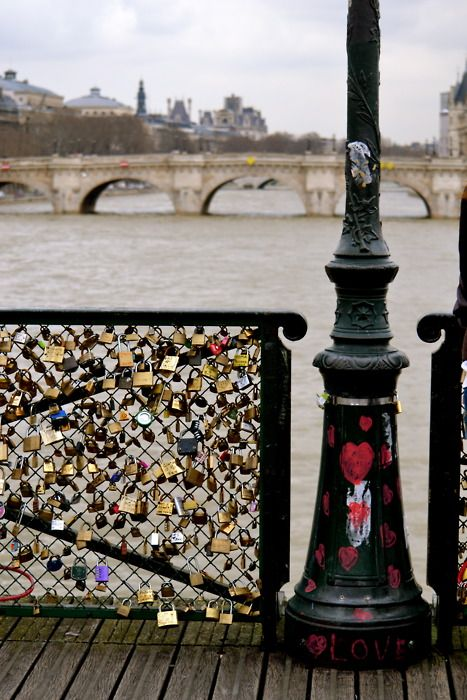 Paris Love Padlocks -Pont des Arts - this was really cool to see!