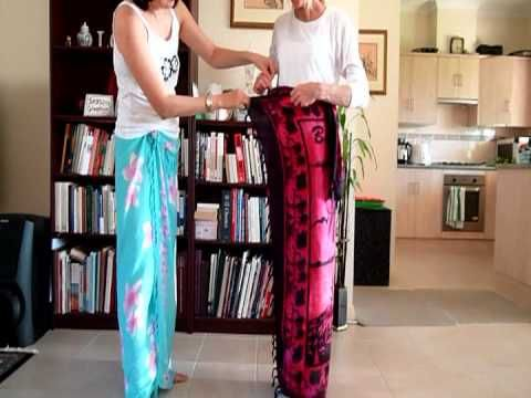 How to wear to a sarong Balinese style - YouTube