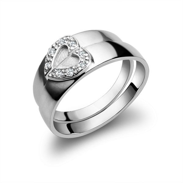 Clio Jewelry | heart couple ring 40302