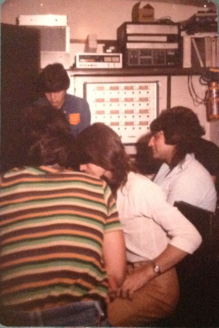 Pseudo Echo recording their first demo at Spellbound Studios