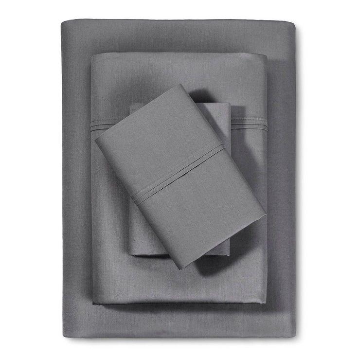 Performance Sheet 400 Thread Count Sheet Set - Gray (Twin Extra Long) - Threshold, Dark Gray