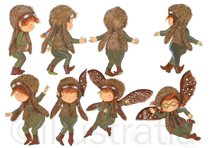 character illustration 'Fie' - a forest fairy
