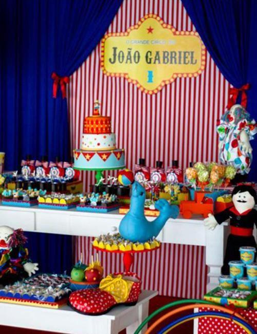 Fiesta de Cumpleaños inspirada en el circo