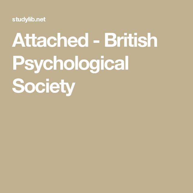 Attached - British Psychological Society