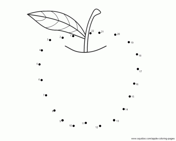 apple dot to dot OT PrewritingScissor
