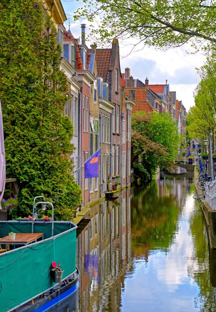 Canals Waterways City Delft Netherlands Sunny Day Stock Photo Sponsored City Delft Canals Waterways Ad Delft Nederlanderna