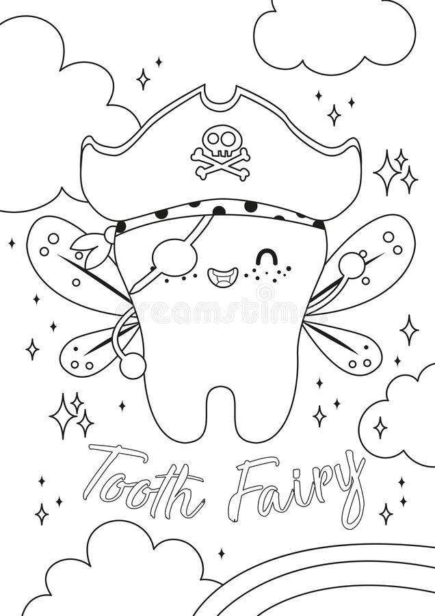 Illustration About Tooth Fairy Vector Cartoon Illustration Dreamstime Tooth Fairy Dental Dentist Colo Cartoon Illustration Fairy Drawings Tooth Cartoon