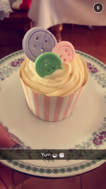 Button lemon poppy seed cupcakes ❤️